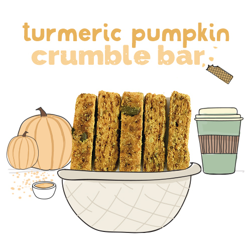 medium image of turmeric pumpkin crumble bar-24g