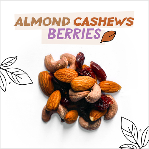 image of almond cashew berries - 30g