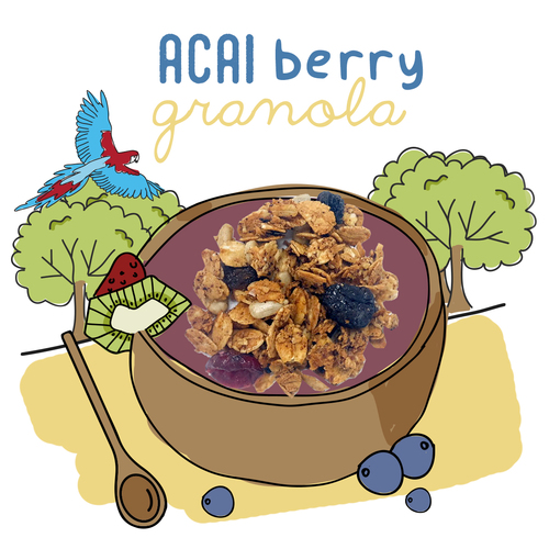 image of açaí berry granola