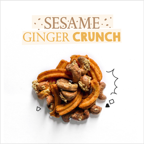 medium image of sesame ginger crunch-30g