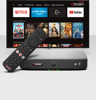 Airtel Xstream Box- Movies, Apps, Games & TV Channels