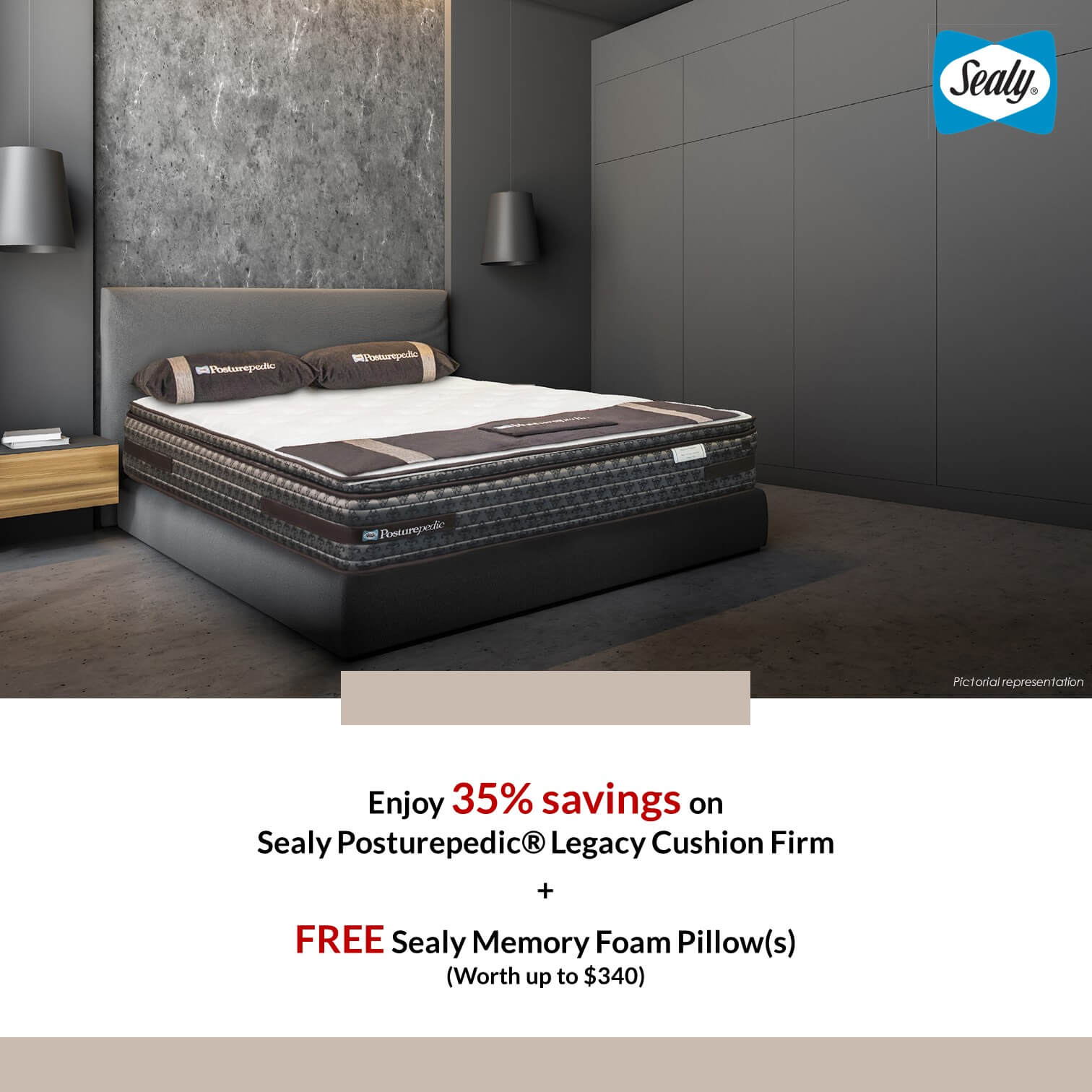 21 Aug 2020 Onwards: Sealy Free Sealy Memory Foam Pillow Promotion