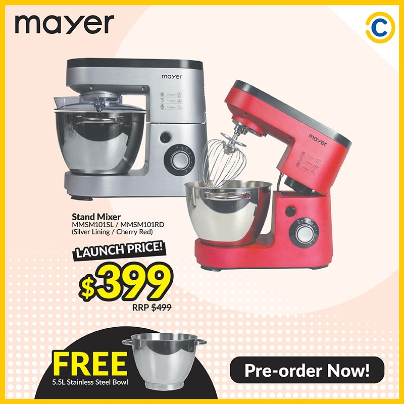 Mayer Free 5.5l Stainless Steel Bowl Promotion at COURTS