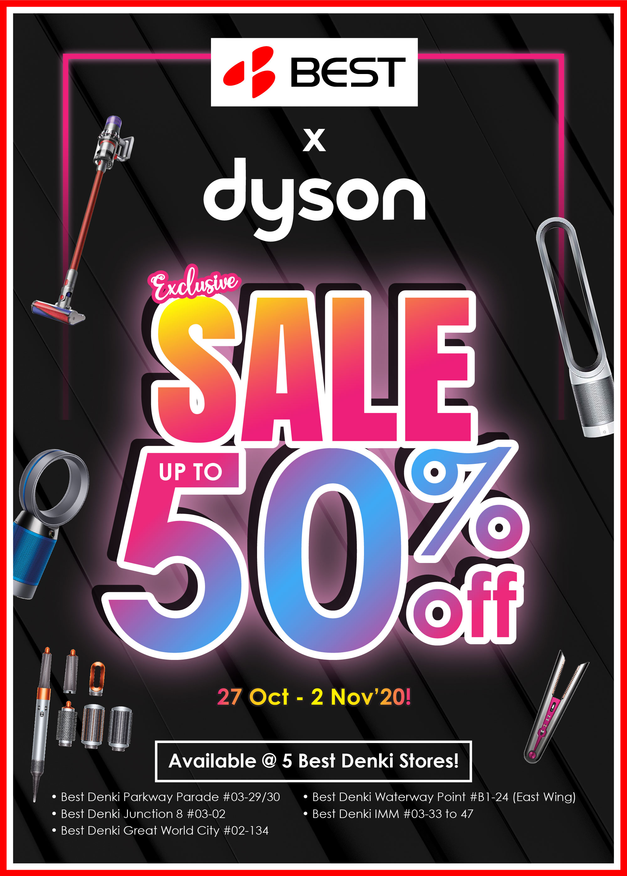 Best Denki: Up to 50% OFF Dyson Products Restocked till 02 Nov 2020