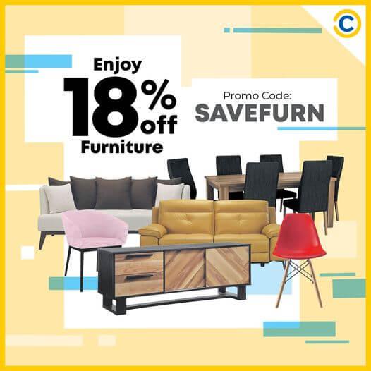 COURTS: Enjoy 18% off Furniture Use promo code SAVEFURN, offer ends 31 Oct 2020