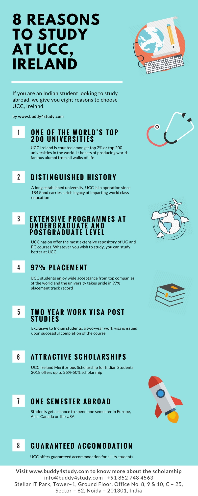 8 Reasons to study at UCC - Infographic