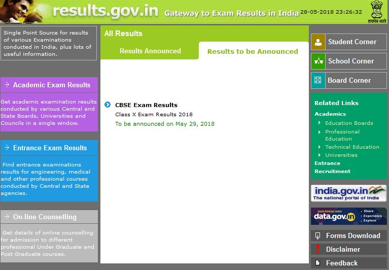 Class 10 Results 2018