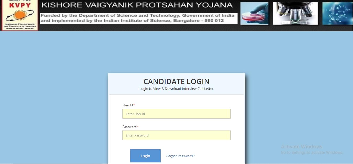 KVPY registration/application