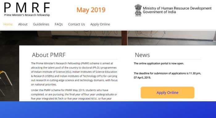 PMRF APPLY ONLINE