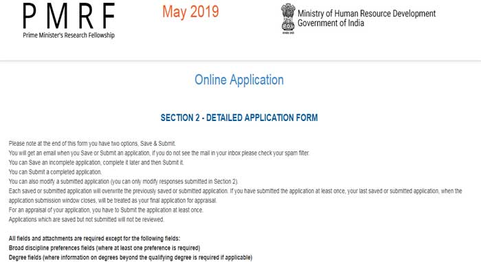 PMRF Section 2 Application