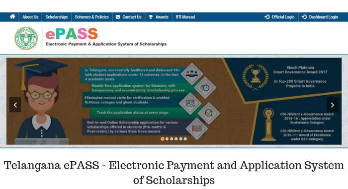 Telangana ePASS - Scholarship List, Eligibility, Rewards, Application