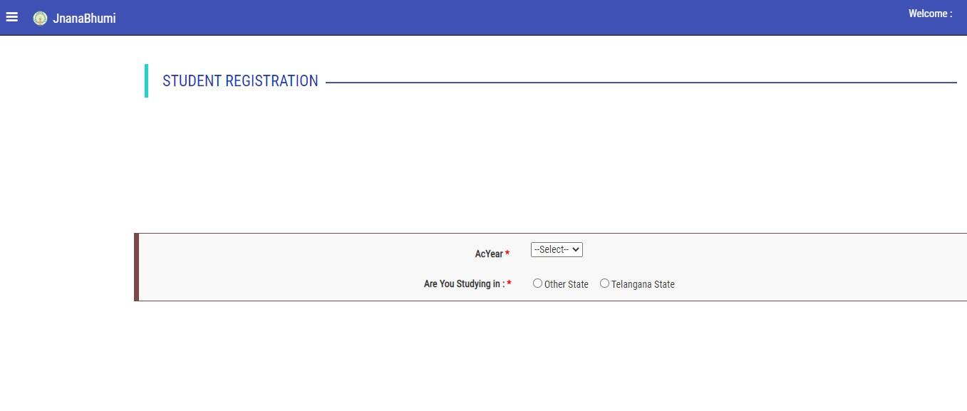 Jnanabhumi - Student Registration