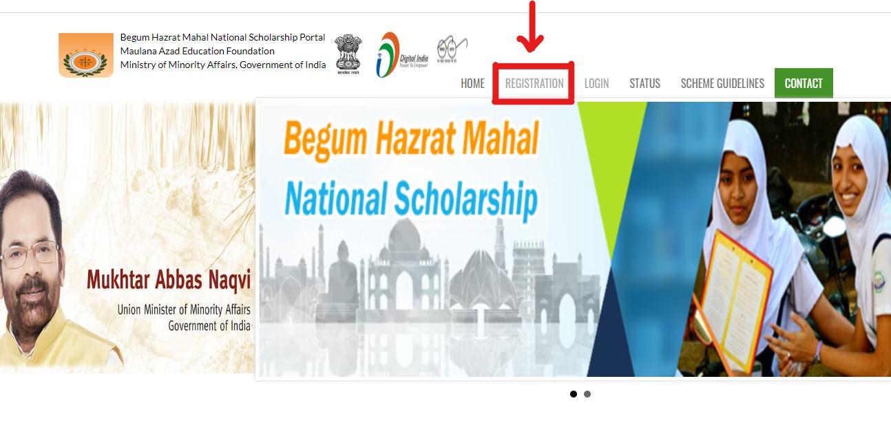 Begum Hazrat Mahal Scholarship - Student Registration