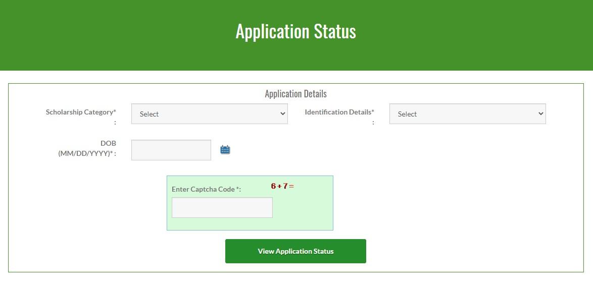 Begum Hazrat Mahal Scholarship - Application Status