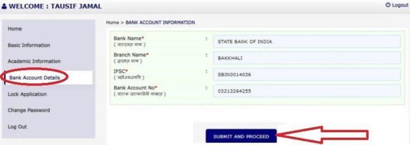 Bank Account Information