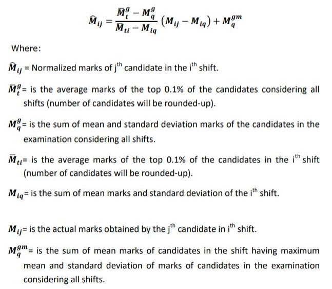normalise the score of the candidate in SSC CHSL Tier I