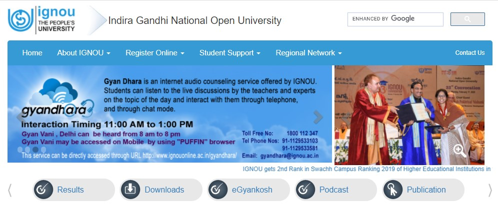 Follow the steps below to check your IGNOU June term end result 2020