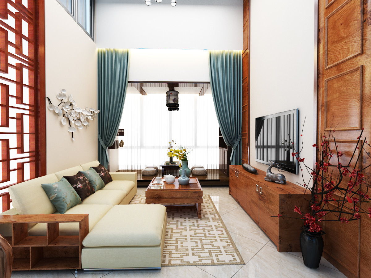 The Chinese Style Living Room