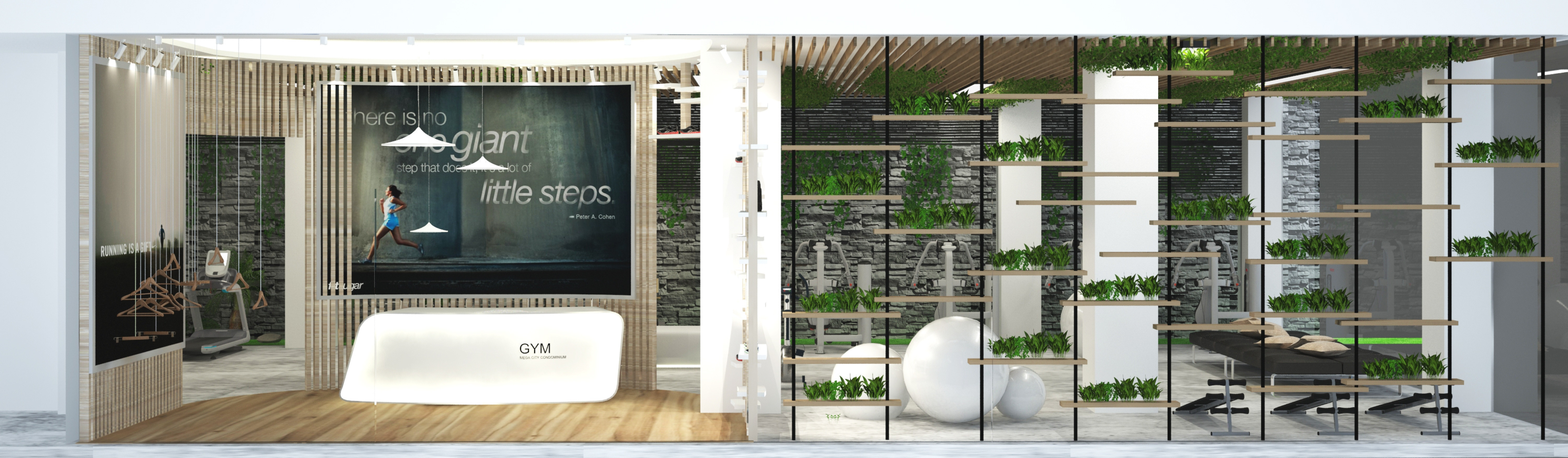 Sustainable Gym room design