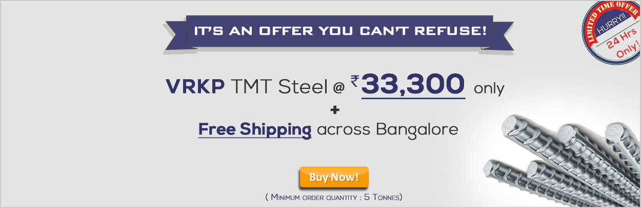 Vrkp TMT Steel Free Shipping Offer
