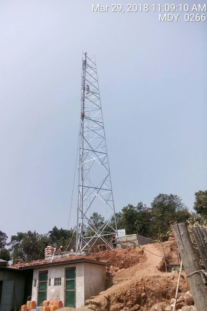 Build MYTEL Tower MDY #0873 ပြုလုပ်သူ MERCI | Yangon