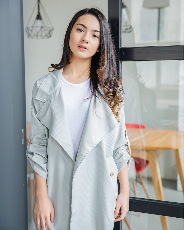 Grey Oversized Blazer