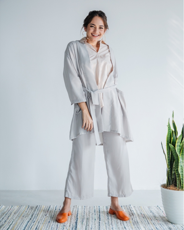 One Set Grey Outer Pants
