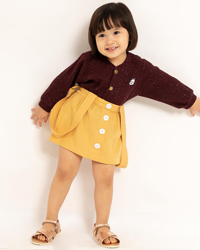 Mini Overall Skirt Mustard