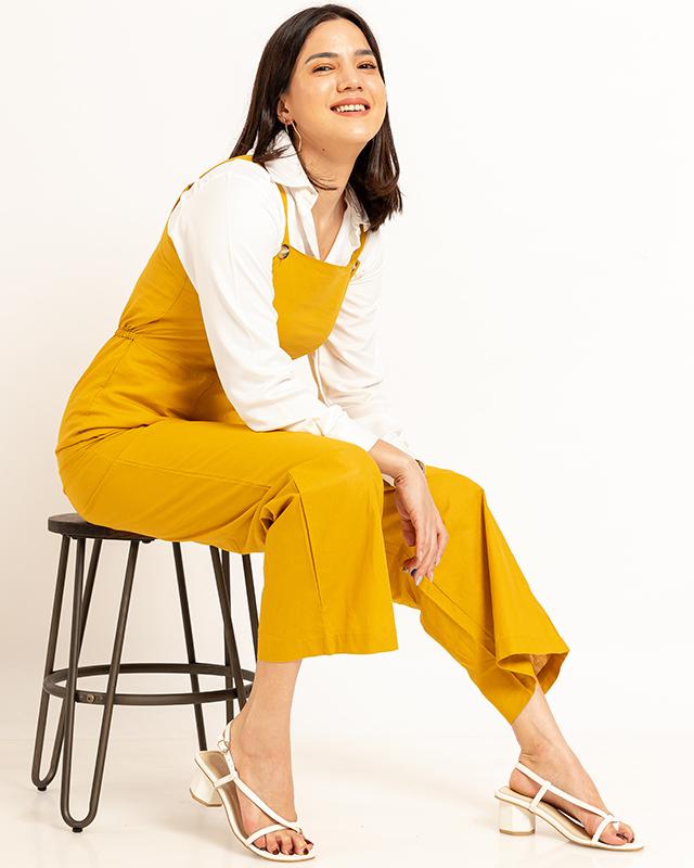 Maxi Jumpsuit Mustard