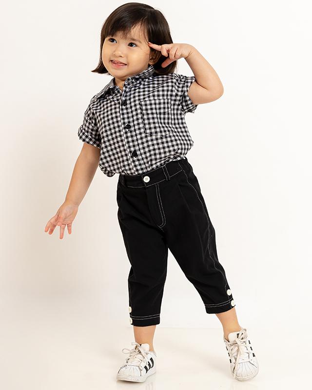 Mini Casual Trousers Black