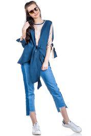 Blue Cream Tie Up Blouse 303-prd_14112005305600_1496952855.jpg