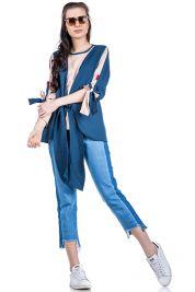 Blue Cream Tie Up Blouse 303-prd_14112046825100_1496952855.jpg