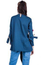 Blue Cream Tie Up Blouse 303-prd_14112068547800_1496952856.jpg