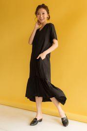 Ruffle Hem Maxi Dress Black-prd_17797069294000_1563799547.jpg