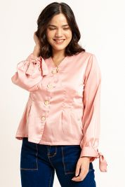 Button Tie Up Sleeve Blouse Pink-prd_18062024452900_1573470902.jpg