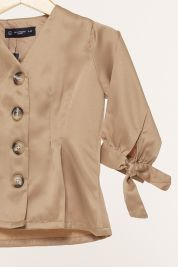 Mini Button Tie Up Sleeve Blouse Brown-prd_18064035782900_1565964875.jpg