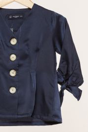 Mini Button Tie Up Sleeve Blouse Navy-prd_18067037625900_1565964889.jpg