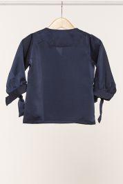Mini Button Tie Up Sleeve Blouse Navy-prd_18067085180200_1565964890.jpg