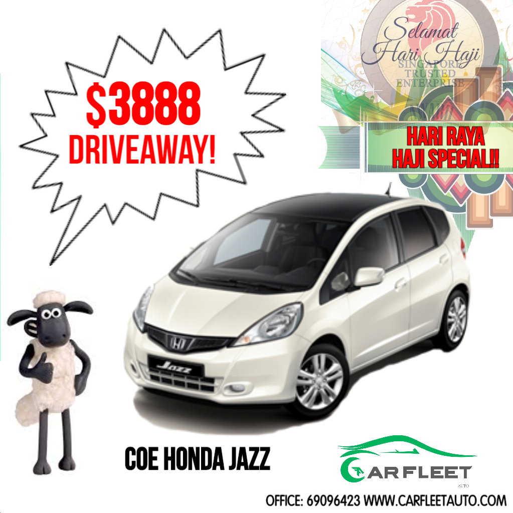 Buy Used Honda Jazz 3 888 Driveaway Only Limited Units Coe Car