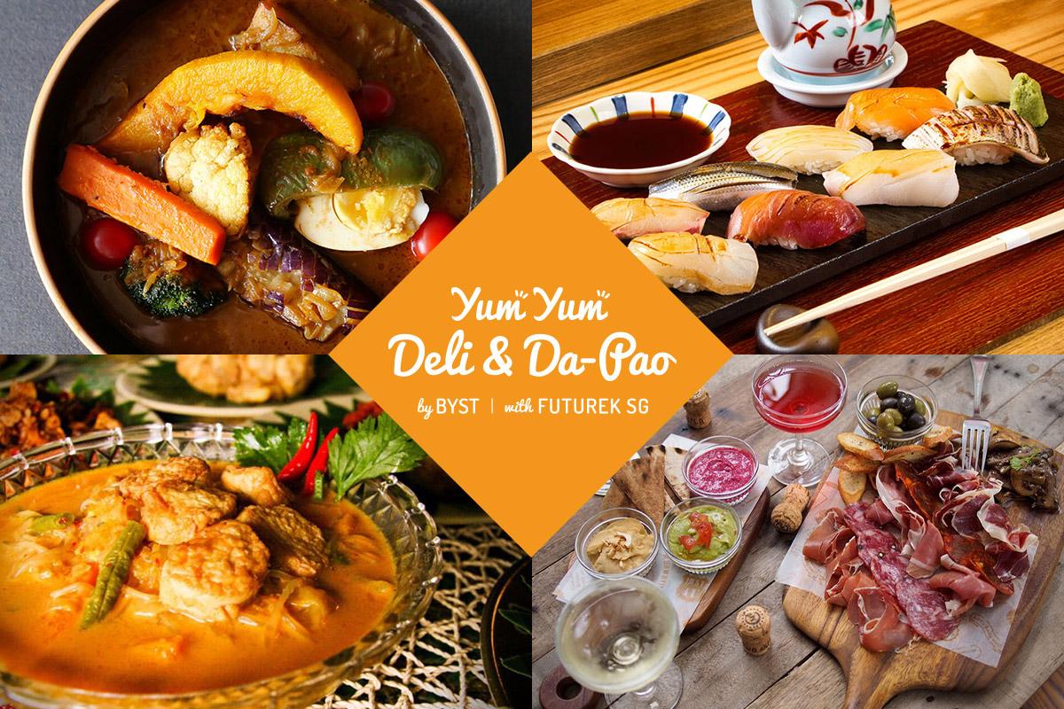 シンガポールでテイクアウト&デリバリーを楽しもう! テイクアウトとデリバリー検索サイト『YUM YUM DELI & DA-PAO』のローンチ。
