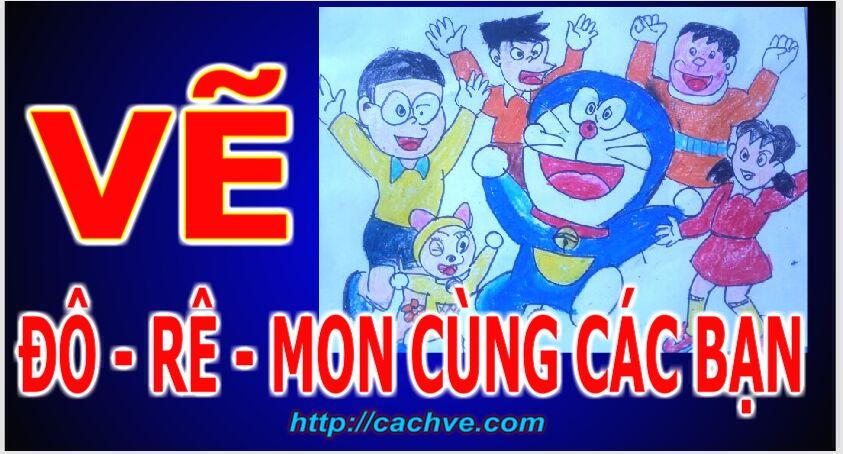 Vẽ đô - rê  - mon dễ nhất  - Vẽ Đô - rê - mon - How to draw Doraemon