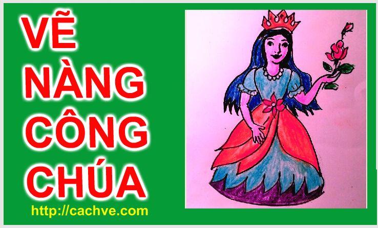 Vẽ Nàng công chúa xinh đẹp  | Drawing a Pretty Princess