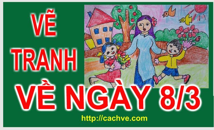 Vẽ tranh Đề tài về Ngày 8/3  Ngày Quốc Tế Phụ nữ |  Woman's Day Drawing