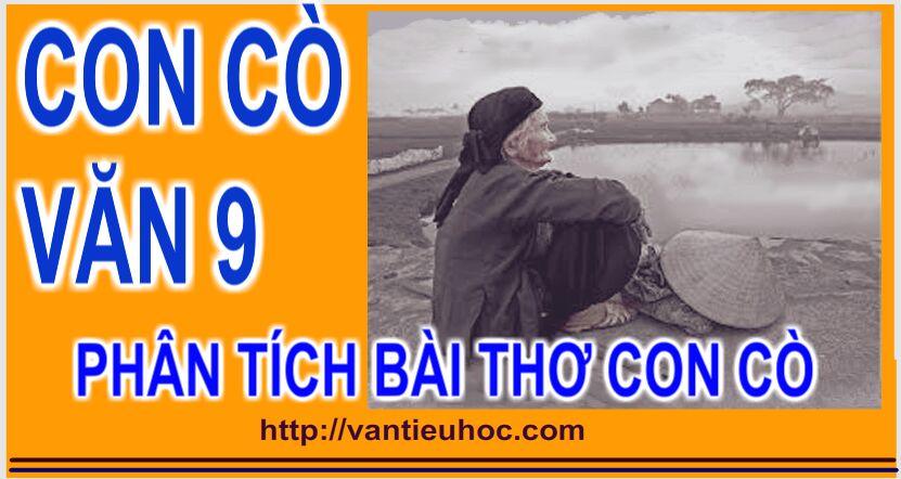Văn 9 - Phân tích bài thơ Con cò của Chế Lan Viên.
