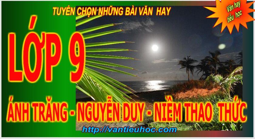 Ánh trăng  – Nguyễn Duy-  Niềm thao thức của một ánh nhìn từ quá khứ