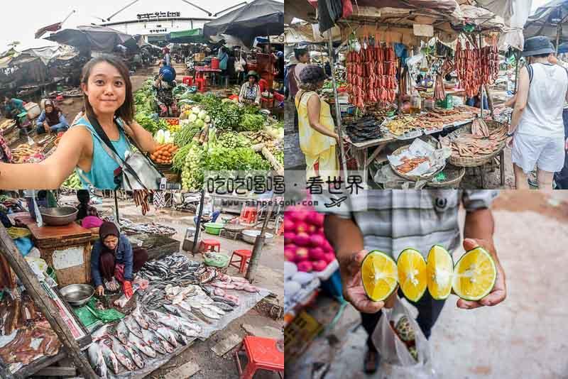 暹粒傳統菜市場