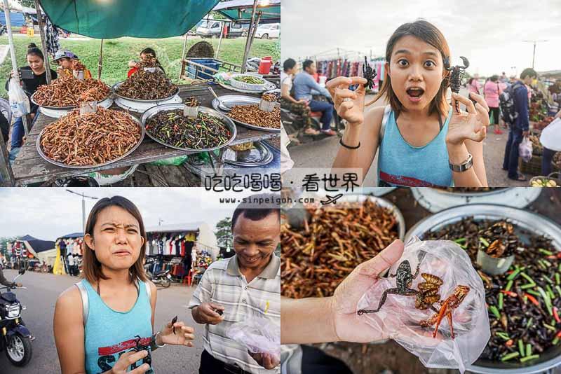 柬埔寨驚悚昆蟲美食