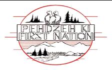 Pehdzeh Ki First Nation (PKFN) - viewable by Mark