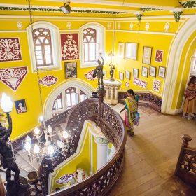 班加羅爾宮盡顯當年皇族的奢華和氣派。