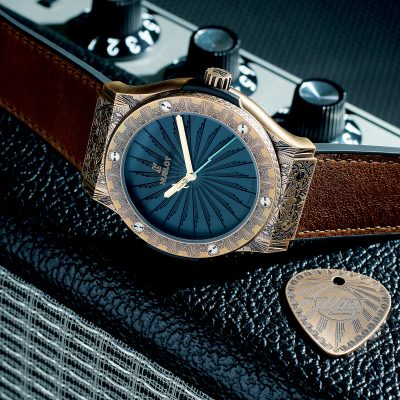 Hublot Classic Fusion Wild Customs青銅腕錶 HK$126,300(另有鈦金屬版本,各限量100枚)